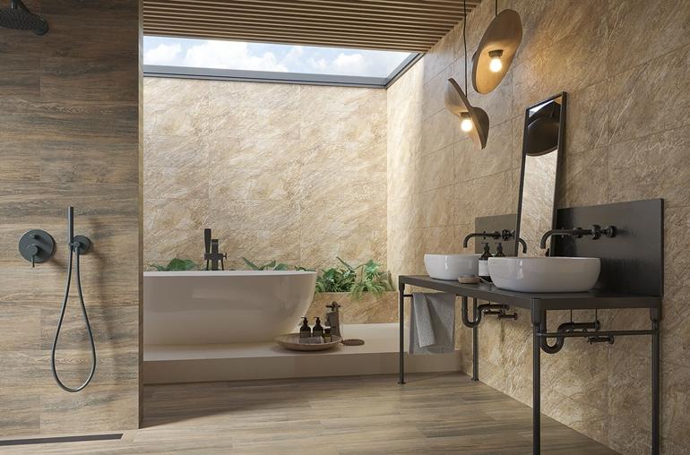 Fire-Rocks-beige-struktura-298x898_Aveiro-brown-194x900_aranż-główny